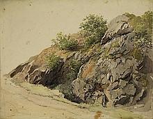 Sande Bakhuyzen, H. van de (1795-1860). (Rocks).
