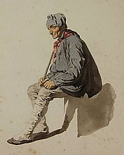 Anonymous (19th cent.). (Seated elderly