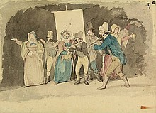 Anonymous (19th cent.). (Theatre company playing