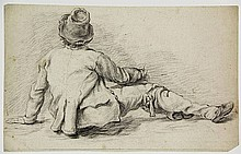 Anonymous (18th cent.). (Seated peasant seen from