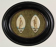 Anonymous (18th cent.). A pair of painted