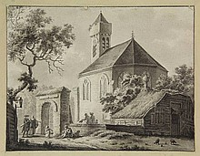Anonymous (18th cent.). (View of a chapel and an
