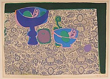 Bezombes, R. (1913-1994). (Still life of two