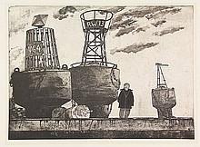 Berserik, H. (1921-2002). (The artist standing