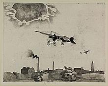 Berserik, H. (1921-2002). (Two planes flying over
