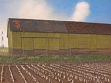 Bos, J. (1926-2000) (?). Bij het station Haren.