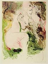 Bohemen, C.B. van (1928-1985). (Two nude lovers).
