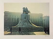 Christo (b.1935). Wrapped monument to Vittorio