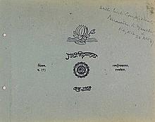 Ghandi, Mahatma (1869-1948). Album containing 6