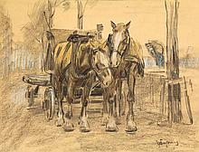 Dingemans, W.J. (1873-1925). (Horse-drawn cart).
