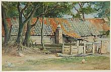Akkeringa, J.E.H. (1861-1942). (Barnyard with old