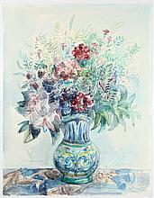 Andréa, K. (1914-2006). (Bouquet in a coloured