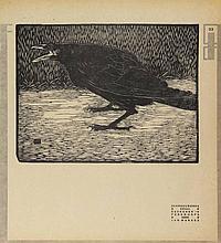 Mankes, J. (1889-1920). Schreeuwende kraai, staand