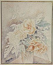 Marevna, M.V. (1892-1984). (A vase with roses).