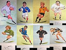 Signed John Ireland Rugby prints and book plates (1970-90s), i) Bill Beaumo