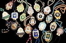 20 gilt-metal & enamel members' badges for Liverpool, 1937, 1939, 1947, 194