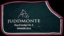 The winner's sheet worn by Frankel after his victory in the Juddmonte Royal