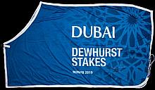 The winner's sheet worn by Frankel after his victory in the Dubai Dewhurst