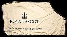 The winner's sheet worn by Frankel after his victory in The St James's Pala