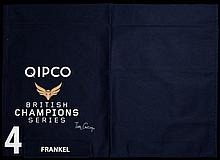 The pre-parade No.4 saddlecloth worn by Frankel before his victory in the Q