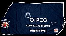 The winner's sheet worn by Frankel after his victory in the Queen Elizabeth