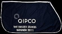 The winner's sheet worn by Frankel after his victory in The Sussex Stakes (