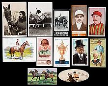 Two collector's albums of cigarette and trade cards themed to horse racing,