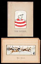 Two unframed horse racing stevengraphs, silkwork pictures titled ''The Star