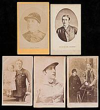 A group of five cartes-de-visite of Fred Archer, one together with his wife