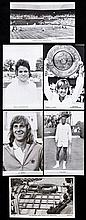24 1960's & 1970's Wimbledon tennis postcards, mostly player portraits incl