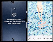 A folio of Munich 1972 Olympic Games art posters, a complete set of 28 in 6
