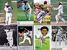 Autographs of 17 West Indies cricketing greats (1970-2000s), signed photos,