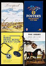 Racecards and badges 1970s onwards, including Red Rum's 1974 Grand National