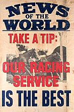 Racing memorabilia, including a vintage News of the World news stand racing