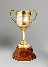The 1931 Caulfield Cup, an 18ct. gold two-handled trophy cup by T. Gaunt