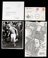 A Sir Stanley Matthews signed postal cover for his Farewell Match 28th Apri
