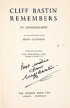 A signed copy of Cliff Bastin Remembers, Arsenal's prolific goalscorer sign