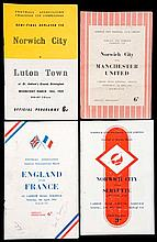 12 Norwich City 1950s programmes, including Festival of Britain v Servette