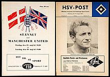 Two Manchester United programmes away in Europe, Staevnet 21st & 23rd May 1