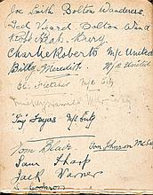 A football autograph album circa 1919-20, autographs collected in the Manch