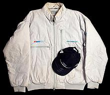 F1 Ford Motorsport white rally jacket,  an exclusive zip design by SVD