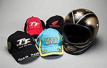 Murray Walker's personal motor-cycle helmet by Premier,  a full-face de