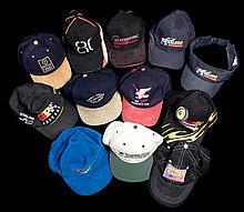 Twelve international motorsport, TV station and miscellaneous caps,  co