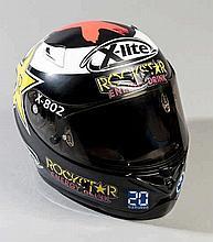 2012 Jorge Lorenzo Qatar Grand Prix worn helmet by Nolan,  the X-lite X