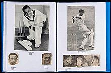 A collection of cricketers' autographs,  contained in three folders, on