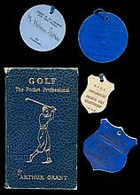 Two Open Golf Championship competitor's badges for 1929 and 1935,  name