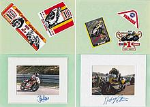 Autographed 1970s-80s photo and sticker album of fourteen international rid