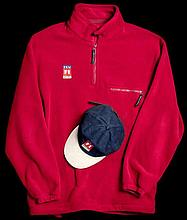 GB4612-5  ITV F1 Sport red fleece top and matching cap,  the top by