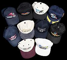 Ten Formula 1 international Grand Prix event caps,  comprising the U.S.