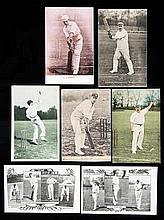 30 cricketer portrait postcards circa 1900-1910,  subjects including J